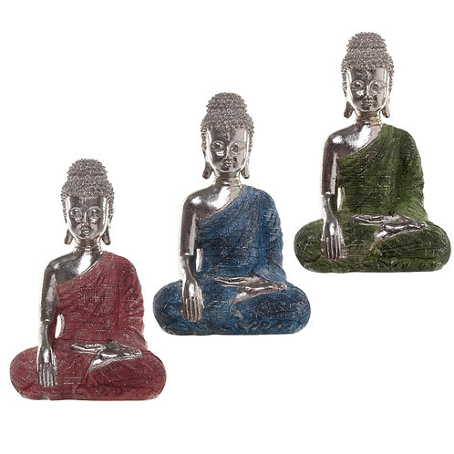 Thai Buddha Figurine - Metallic Meditation Novelty Gift