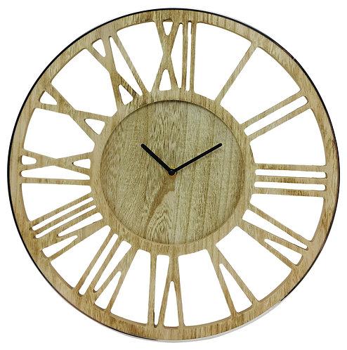 Wooden Silver Clock 40cm Shipping furniture UK