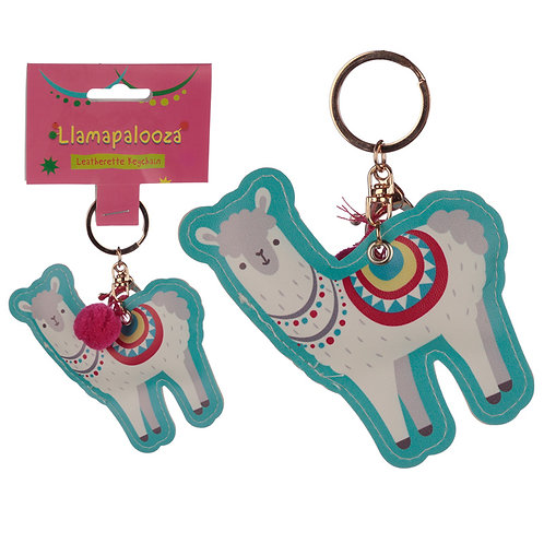 Fun Leatherette Llama Keyring Novelty Gift