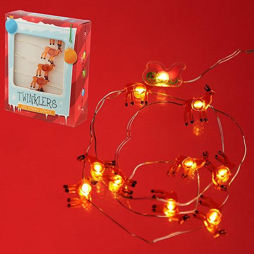 Decorative LED Christmas Fairy Lights - Reindeer & Santa Novelty Gift