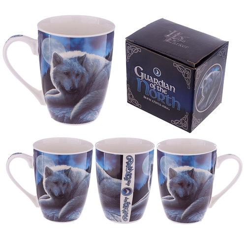 Porcelain Mug - Fantasy Wolf Guardian Novelty Gift
