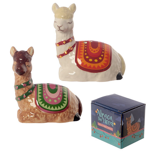 Novelty Alpaca Salt and Pepper  Shaker Gift Set