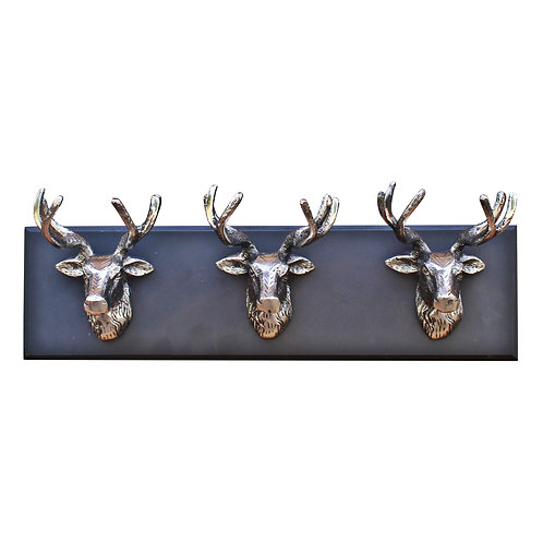 Wall Hanging Triple Stag Head Ornament Shipping furniture UK