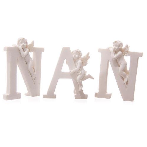 Cute Cherub NAN Letters Ornament Novelty Gift