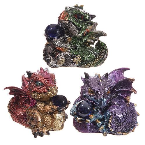 New Collectors Baby Crystal Ball Cute Dragon Figurine UK [1]