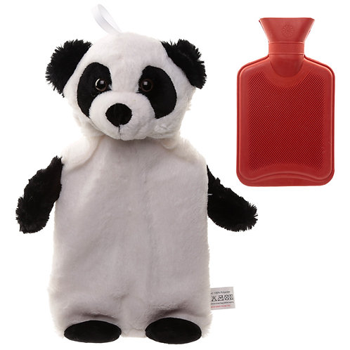Cute Plush Pandarama Design 1 Litre Hot Water Bottle and Cover Novelty Gift