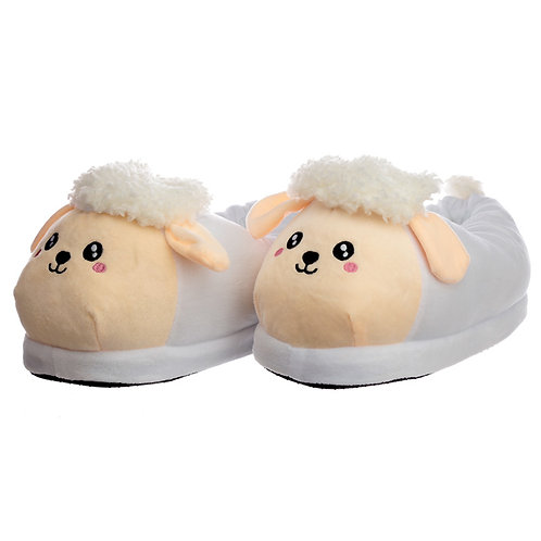 Cute Sheep Unisex One Size Pair of Plush Slippers Novelty Gift