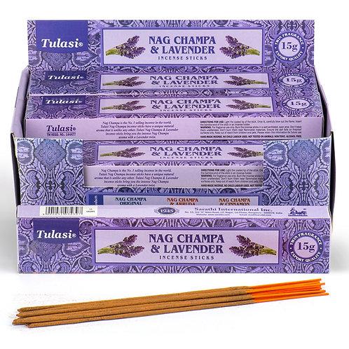 Nag Champa Tulasi Incense Sticks - Lavender Novelty Gift