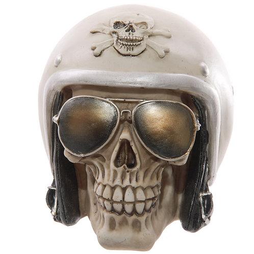 Novelty Skull with Sun Glasses and Helmet Ornament Gift