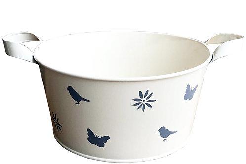 Cream Enamel Bowl - Large Shipping furniture UK