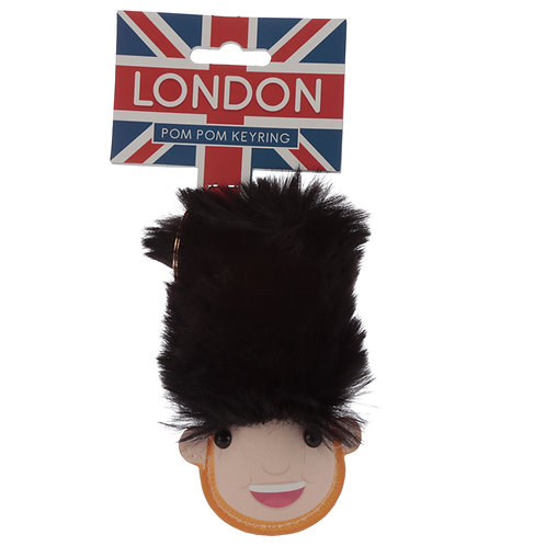 Fun Collectable Pom Pom Keyring - London Guardsman Novelty Gift