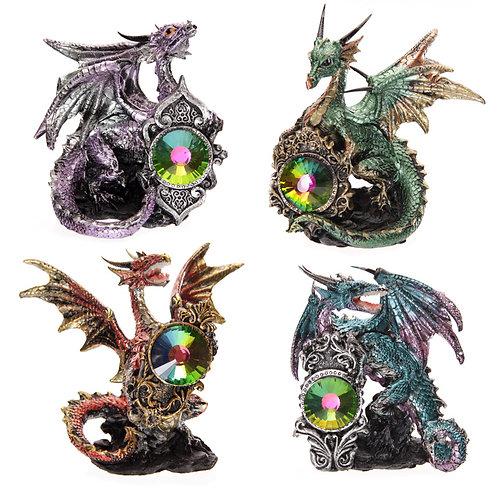 New Collectors Crystal Protector Fantasy Nightmare Dragon Figurine UK [1]