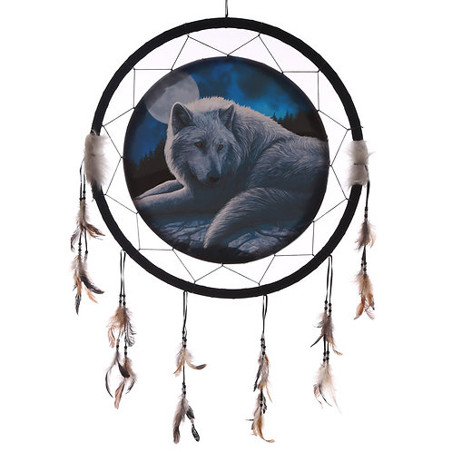 Decorative Guardian Wolf 60cm Dreamcatcher Novelty Gift