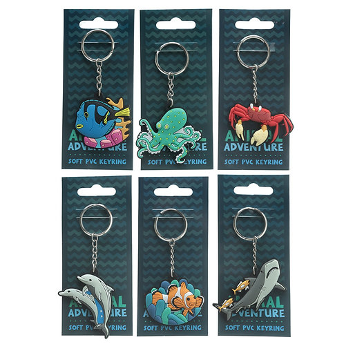 Fun PVC Keyring - Under the Sea Collection Novelty Gift