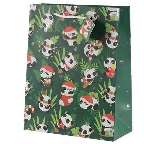 Panda Large Christmas Gift Bag Novelty Gift
