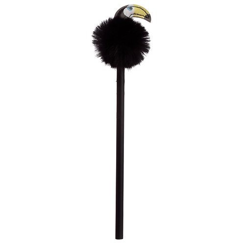Fun Toucan Pom Pom Pencil with Topper Novelty Gift [Pack of 2]