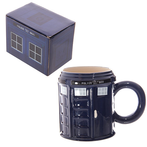 Novelty Ceramic Police Box Mug Novelty Gift