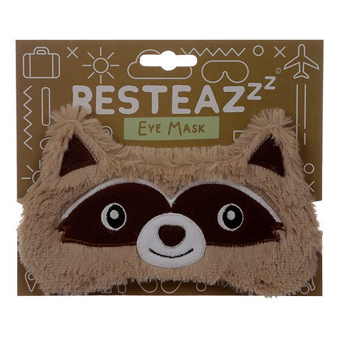 Fun Eye Mask - Plush Raccoon Novelty Gift