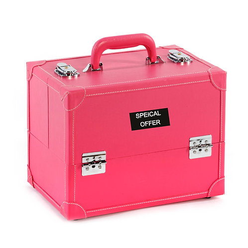 Vanity Case / Makeup Box Box Pink Faux Leather Shipping furniture UK