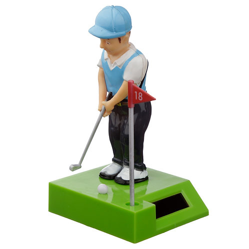 Collectable Golfer Solar Powered Pal Novelty Gift