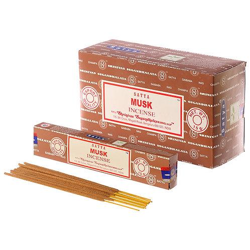 Satya Nag Champa Incense Sticks - Musk Novelty Gift