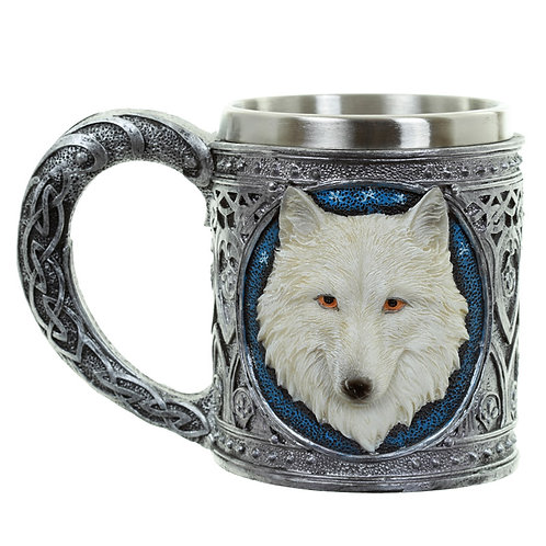 Collectable Decorative Wolf TankardGothic Design Cup Novelty Beer Mug