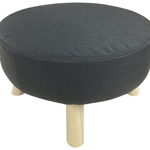 Grey Fabric Wooden Stool 48cm Shipping furniture UK