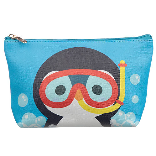Medium PVC Make Up Toiletry Wash Bag - Cutiemals Penguin Novelty Gift