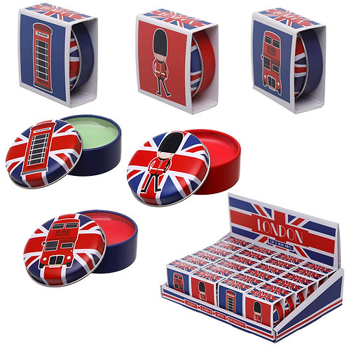 Funky Lip Balm in a Tin - London Designs Novelty Gift