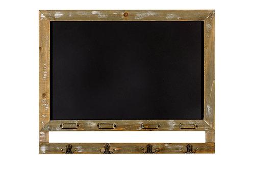 Blackboard with 4 Hooks 55 x 46cm Shipping furniture UK