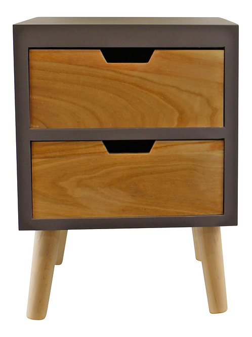 2 Drawer Chest In Grey Finish With Removable Legs Shipping furniture UK