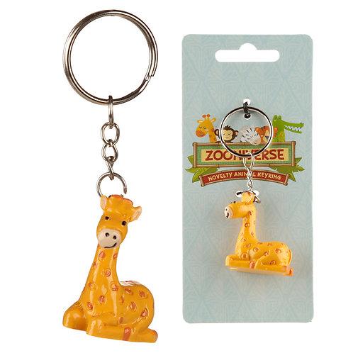 Fun Collectable Giraffe Keyring Novelty Gift