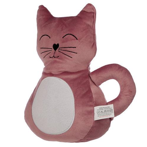 Interior Door Stop - Pink Cat Novelty Gift