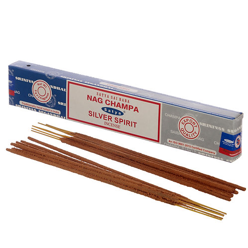Satya Incense Sticks - Nag Champa & Silver Spirit Novelty Gift