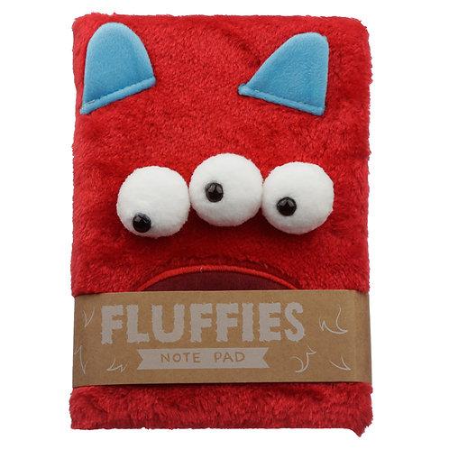 Fluffy Plush Notebook - Monster Monstarz Novelty Gift