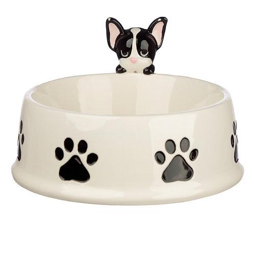 French Bulldog Dog Squad Ceramic Pet Food Bowl Novelty Gift