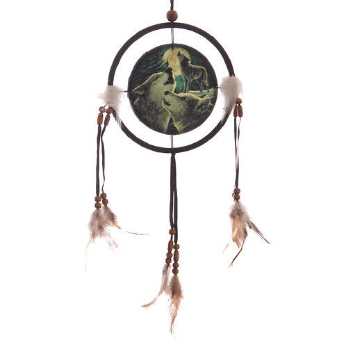 Novelty Gift Decorative Fantasy Wolf Family Dreamcatcher Small
