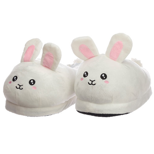 Cute Bunny Unisex One Size Pair of Plush Slippers Novelty Gift