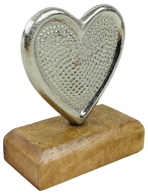 Hammered Aluminium Heart 12cm Shipping furniture UK