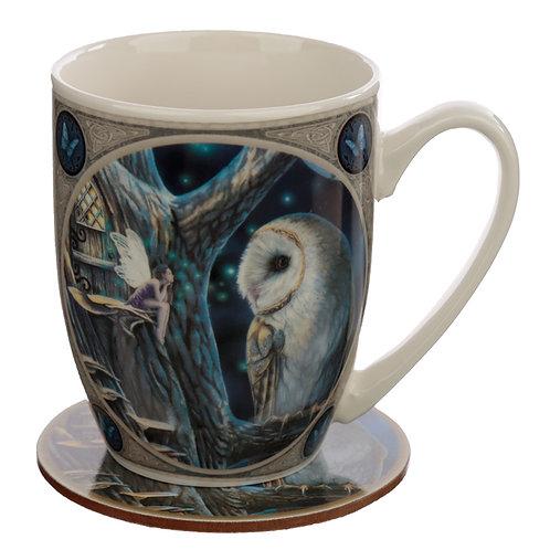 Porcelain Mug and Coaster Gift Set - Lisa Parker Fairy Tales Novelty Gift