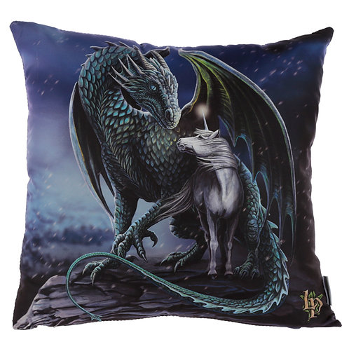 Cushion with Insert - Lisa Parker Protector of Magic Dragon Novelty Gift
