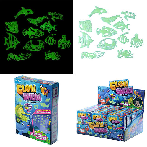 Novelty Gift Fun Kids Glow in the Dark Wall Stickers - Fish and Sealife