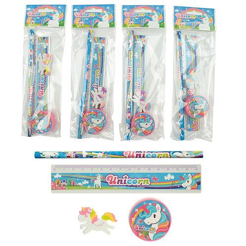 Cute Unicorn Design Stationery Set Novelty Gift [Pack of 1]