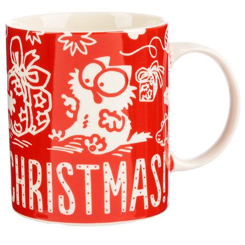 Christmas Porcelain Mug - Simon's Cat Meowy Christmas Novelty Gift