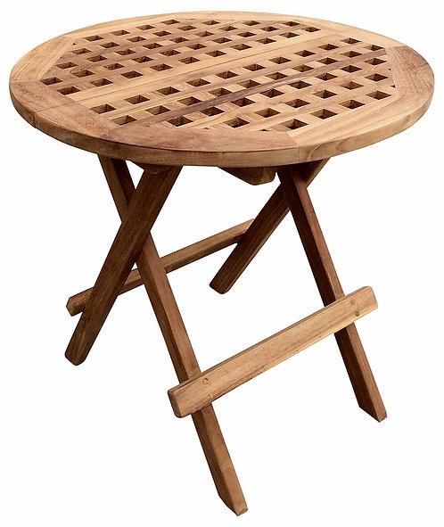Folding Round Teak Picnic Table With Handle Shipping furniture UK