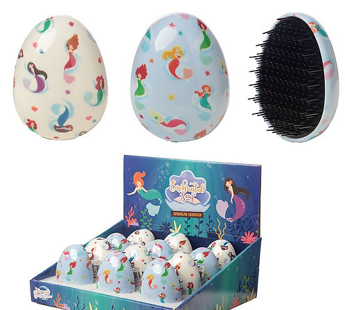 Fun Mermaid Design Handy Detangling Hair Brush Novelty Gift