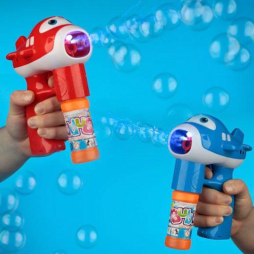 Fun Kids Musical Aircraft Bubble Gun [ONE ONLY] Novelty Gift