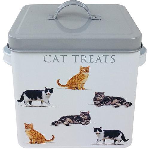 Metal Cat Treats Printed Tin 23cm Shipping furniture UK