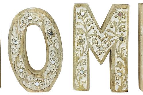 HOME Flower Design Wooden Letters Shipping furniture UK