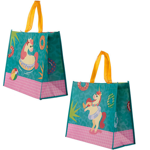Cute Tropical Unicorn Durable Reusable Shopping Bag Novelty Gift